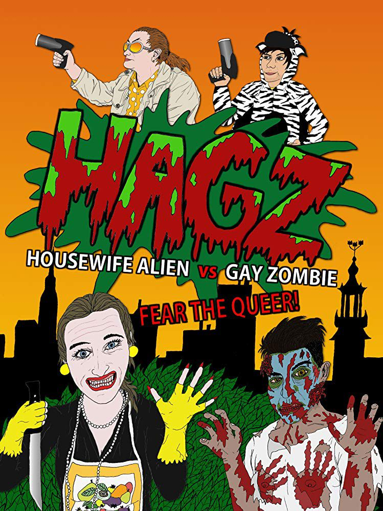 Affiche Femme au foyer extra-terrestre contre zombie gay
