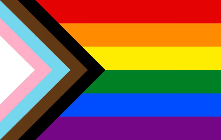 Drapeau LGBT progressif